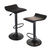 Winsome Obsidian Adjustable Height Swivel Bar Stool with Cushion (Set of 2)