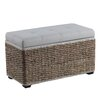 Bombay Heritage Passages Upholstered Storage Entryway Bench