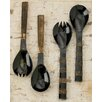 Kindwer 4 Piece Authentic Bone and Horn Serving Set