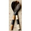 Kindwer 2 Piece Authentic Horn and Bone Serving Set
