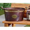 Kindwer Copper Oval Tub with Brass Band and Badge