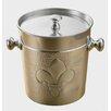 Kindwer Fleur de Lis Dimpled Aluminum Ice Bucket