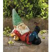 Zingz & Thingz Lazy Gnome Solar Statue