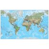 Waypoint Geographic World Physical 1:30 Laminated Wall Map