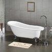 "Cambridge Plumbing 61.75"" x 31"" Claw Foot Slipper Soaking Bathtub"