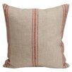 Provence Home Collection Artisan Classic Stripe Linen Throw Pillow