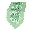 Xia Home Fashions Emerald Mariposa Embroidered Cutwork Table Runner