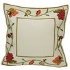 Xia Home Fashions Harvest Vine Crewel Embroidered Harvest Cotton Throw Pillow