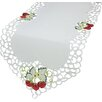 Xia Home Fashions Strawberry Embroidered Cutwork Table Runner