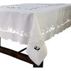 Xia Home Fashions White Rose Embroidered Cutwork Tablecloth