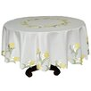 Xia Home Fashions Spring Tulip Embroidered Cutwork Round Tablecloth