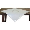 Xia Home Fashions Arietta Embroidered Cutwork Table Topper