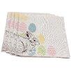 Xia Home Fashions Bunny Eggs Printed Easter Napkin
