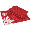 Xia Home Fashions Snowflake Christmas Placemat (Set of 4)