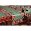Xia Home Fashions Holly Leaf Poinsettia Runner and Napkin Set