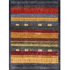 Pasargad Silk Gabbeh Grey/Red Area Rug