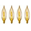 Globe Electric Company Vintage Edison 25 Watt (2700K) B10 Flame Tip Incandescent Filament Light Bulb (Pack of 4) (Set of 4)