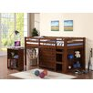 Donco Kids Donco Twin Loft Bed with Roll-Out Desk, Chest & Bookcase
