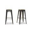 """Wholesale Interiors Baxton Studio French Industrial 30.38"""" Bar Stool (Set of 2)"""