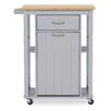 Wholesale Interiors Baxton Studio Yonkers Kitchen Cart with WoodenTop