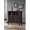 Wholesale Interiors Baxton Studio Bar Cabinet in Dark Espresso Veneer