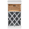 Wholesale Interiors Dresdon British Colonial Classical Country Style 1 Drawer Cabinet with Built-in Wine Rack