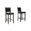 "Wholesale Interiors Baxton Studio Aries Bar 30.5"" Stool with Cushion (Set of 2)"