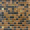 "Giorbello Golden Blends 0.75"" x 0.75"" Glass Mosaic Tile in Amber Carat"