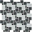 Giorbello Unity Random Sized Glass Mosaic Tile in Black Pepper