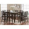 East West Furniture Fairwinds 9 Piece Counter Height Dining Set