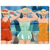 """Oliver Gal """"Swimming Beauties"""" by Runway Avenue Painting Print on Wrapped Canvas"""