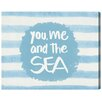 """Oliver Gal """"You Me and The Sea Blue"""" by Olivia""""s Easel Textual Art on Wrapped Canvas"""