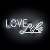 Oliver Gal Love Life Neon Sign