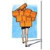 Oliver Gal 'Orange Box Overload' Painting Print on Canvas