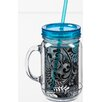 Cypress Home Dark and Stormy 20 oz. Double Walled Mason Jar Insulated Cup with Straw