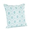 Saro Teardrop Design Printed Throw Pillow