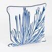 Saro Coral Branch Cotton Throw Pillow