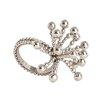 Saro Flower Design Napkin Ring (Set of 4)