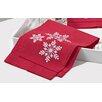 Saro Snowflake Hemstitched Fingertip Towel (Set of 4)