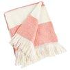 Saro Striped Design Acrylic Throw Blanket