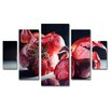 "Trademark Fine Art ""Beauty So Deep"" by Cecile Baird Painting Print 5 Panel Art Set"