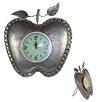 "Entrada 14"" Apple Shape Metal Table Clock"
