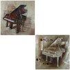 Entrada Piano 2 Piece Oil Painting Set