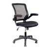 Techni Mobili High-back Mesh Task Chair with Flip-Up Arms