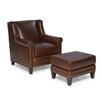 Palatial Furniture Pendleton Arm Chair and Ottoman