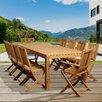International Home Miami Amazonia Teak Folding Dining Arm Chair