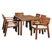 International Home Miami Amazonia Vincent 7 Piece Dining Set (Set of 7)