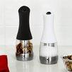 Kalorik Kalorik Black and Whitre Electric Salt and Pepper Grinder Set