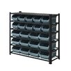 "Whalen Furniture Bakersfield 40.5"" H Bin Rack"