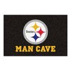 FANMATS NFL Pittsburgh Steelers Man Cave Starter Area Rug